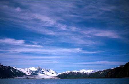 Glacier in Kenai Fjords park
